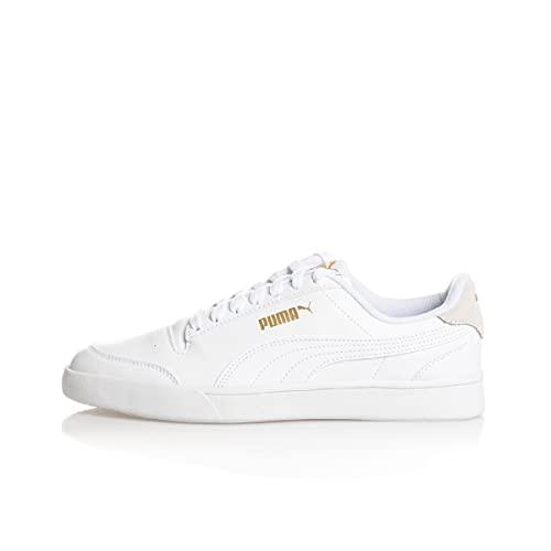 PUMA Shuffle, Zapatillas Unisex Adulto, Blanco (White Team Gold), 41 EU