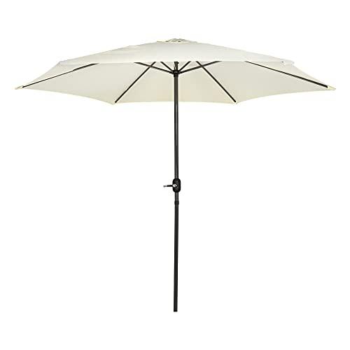 Aktive - Parasol hexagonal Garden diámetro 3 m - Mástil de aluminio 38 mm - Color...