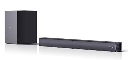 SHARP HT-SBW182 Soundbar 2.1 Slim con Subwoofer inalámbrico, Bluetooth con HDMI...