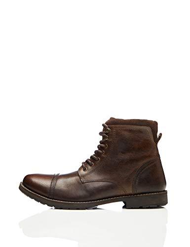 find. Max Zip Worker Botas Clasicas Men's, Marrón (Dark Brown), 42 EU