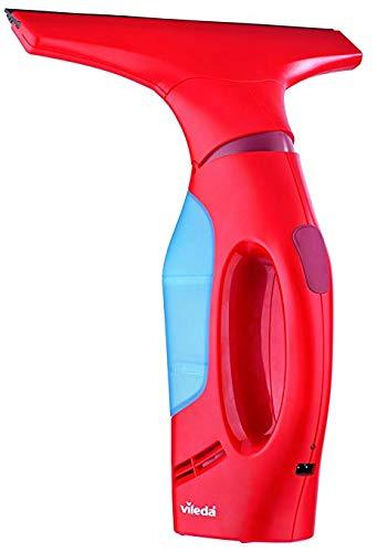 Vileda Windomatic - Aspirador de ventanas con labio de goma, limpiacristales con...