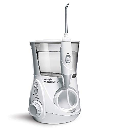 Waterpik WP-660EU Aquarius - Irrigador dental, 100-240V, depósito de agua de 650 ml,...
