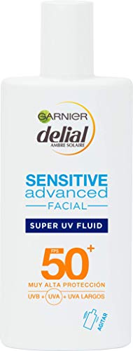 Garnier Delial Sensitive Advanced - Crema Facial Super UV Fluid con Ácido...