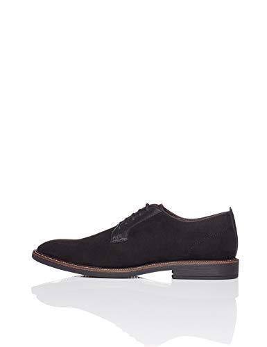 find. Contrast Panel Zapatos de Cordones Derby, Negro Black, 42 EU