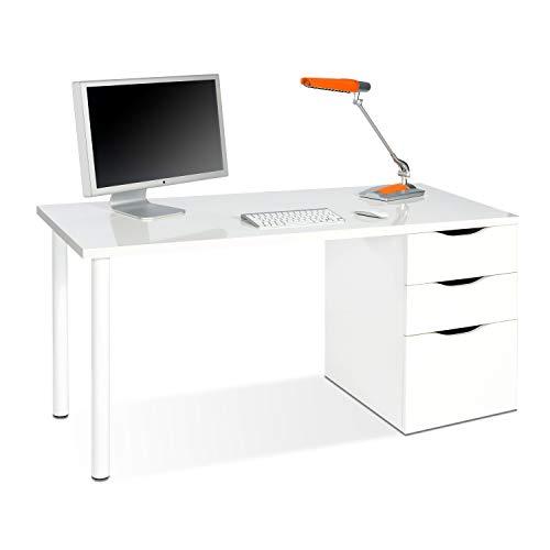 Habitdesign 004604A - Mesa ordenador reversible dos cajones y una puerta, mesa...