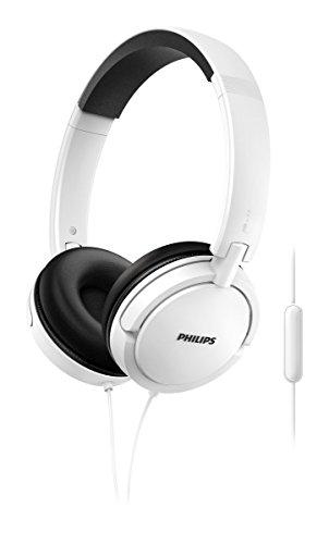Philips SHL5005WT - Auriculares con micrófono, cómodo, Plegables, Aislamiento del...