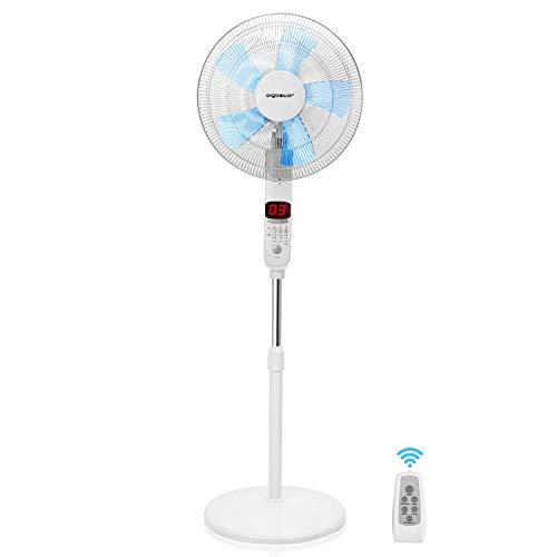 Aigostar Ocean - Ventilador de pie oscilante 85º con mando a distancia, 50W....
