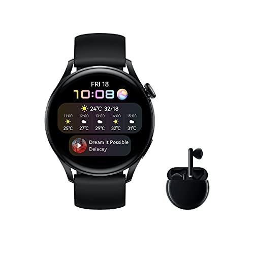 HUAWEI Watch 3 Active + Freebuds 3 Negro - Smartwatch 4G con pantalla táctil 1.43''...