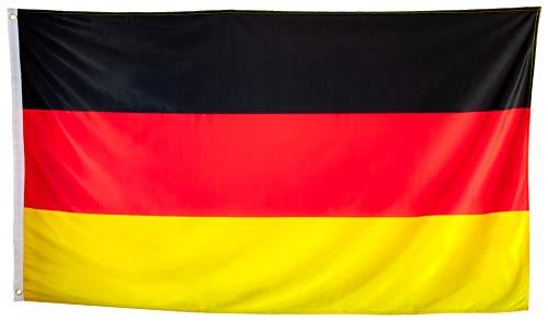 esvendio Bandera de Alemania Grande de Tela Fuerte, Bandera Alemana para Exterior...