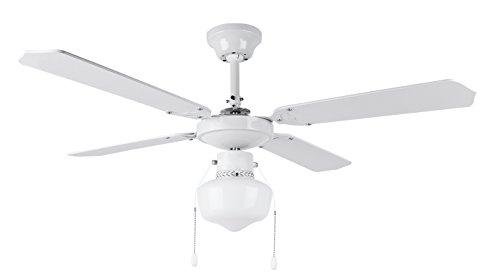 Orbegozo CL 04105 B Ventilador de techo con luz, 50 W de potencia, diámetro de 105...