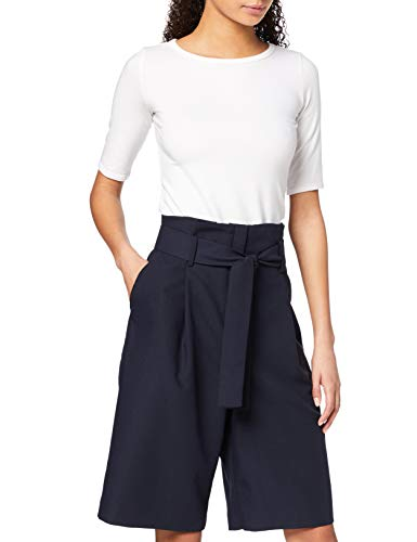 Marca Amazon - find. Culottes Mujer, Multicolor (Marino), 40, Label: M