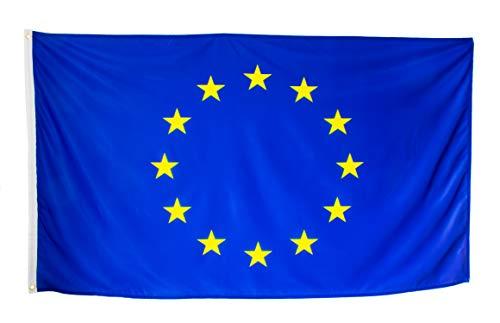 esvendio Bandera de Europa Grande de Tela Fuerte, Bandera Europea para Exterior...