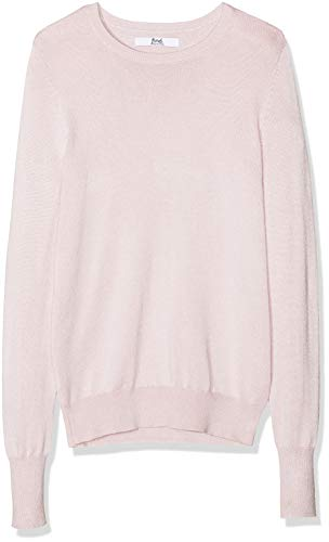 Marca Amazon - find. Jersey con Cuello Redondo Mujer, Rosa (Blush Pink), 38, Label: S