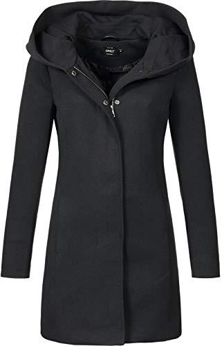 Only Onlsedona Light Coat Otw Noos Abrigo, Negro (Black Black), 38 (Talla del...