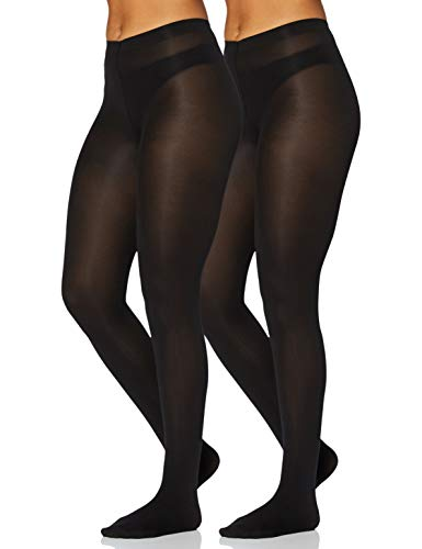 Iris & Lilly by Wolford Medias Mujer, Pack de 2, Negro (Black), XL, Label: XL