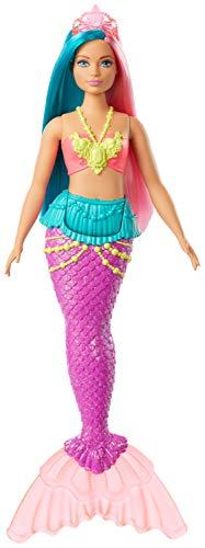 Barbie Dreamtopia Sirena con Pelo Rosa y Turquesa (Mattel GJK11)