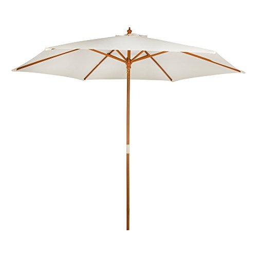 Aktive Garden 53863 - Parasol Hexagonal Diámetro 300 cm, Mástilil Madera 36 mm,...
