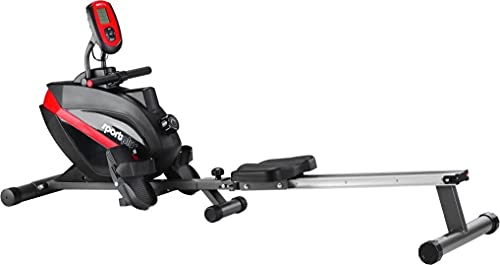 SportPlus SP-MR-008 - Máquina de Remo Fitness, Volante de Inercia de 8 kg, Sistema...