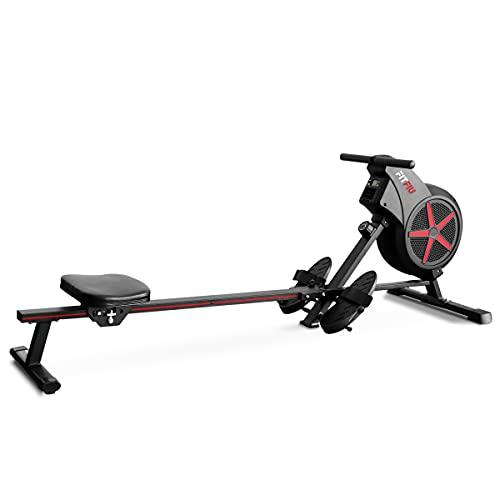 FITFIU Fitness RA-100 - Máquina de Remo plegable, resistencia por aire, asiento...