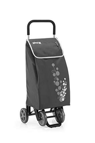 Gimi Twin - Carro de la compra, con 4 ruedas, bolsa impermeable de poliéster,...