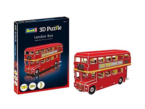 Revell- Bus de Londres 3D Puzzle, Multicolor (00113)