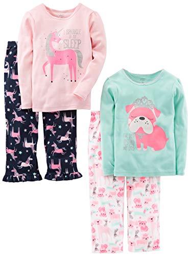 Simple Joys by Carter's Pijama de 4 piezas para niñas pequeñas y niños pequeños...