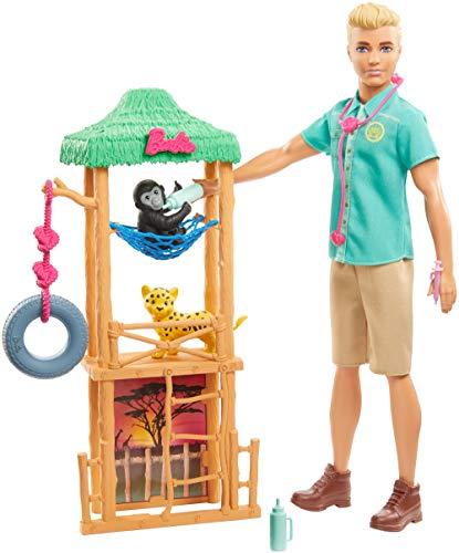 Barbie Ken Quiero Ser Veterinario de vida silvestre, muñeco con accesorios (Mattel...