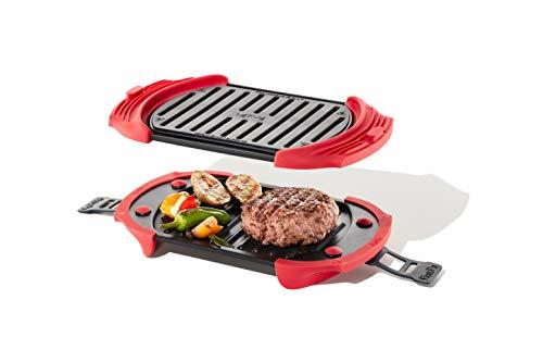 Lékué Microwave Grill, Red microondas, Acero, rojo y negro