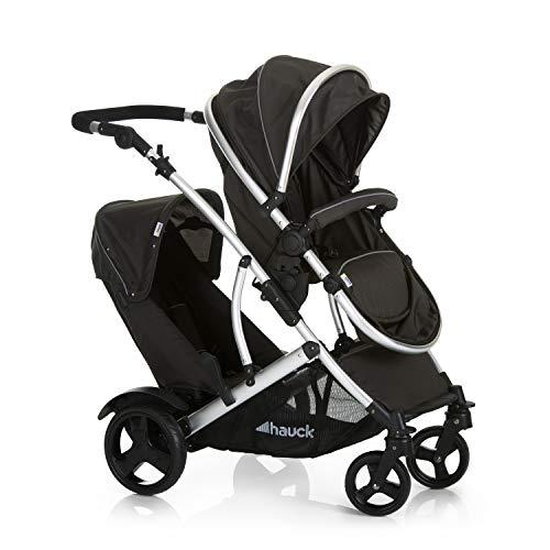 Hauck Duett 2 - Carro gemelar, silla de paseo gemelar, capazo desde nacimiento...