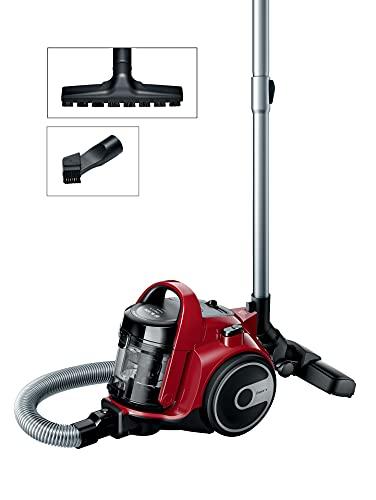 Bosch BGC05AAA2 GS05 Cleannn - Aspirador sin bolsa, 700 W, 1.5 litros, color Rojo y...