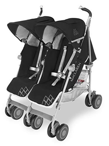 Maclaren Twin Techno Silla de paseo doble - ligera, para recién nacidos hasta los...