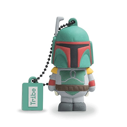 Llave USB 16 GB Boba Fett - Memoria Flash Drive 2.0 Original Star Wars, Tribe...