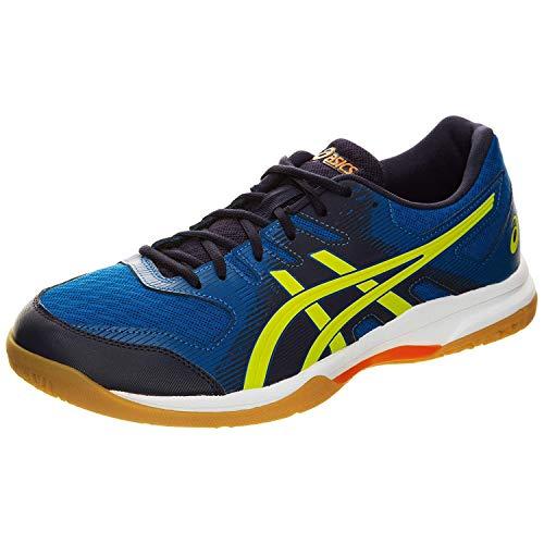 Asics Gel-Rocket 9, Indoor Court Shoe Hombre, Electric Blue/Sour Yuzu, 40 EU