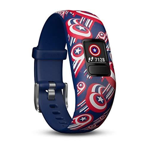 Garmin Vívofit Jr. 2 - Monitor de actividad para niños, Captain America (Banda...