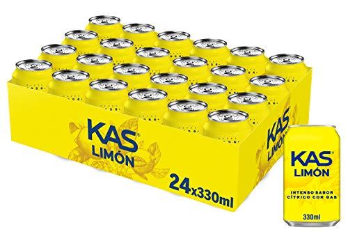 Kas Refresco de Zumo de Limón - Paquete de 24 x 330 ml