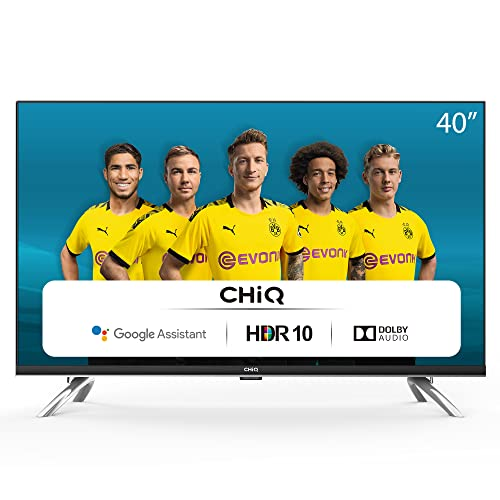 CHiQ Televisor Smart TV LED 40', Resolución FHD, HDR 10/HLG, Android 9.0, WiFi,...