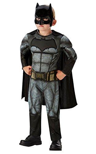 DC Comics - Disfraz de Batman Deluxe para niños, Justice League, 5-6 años (Rubies...