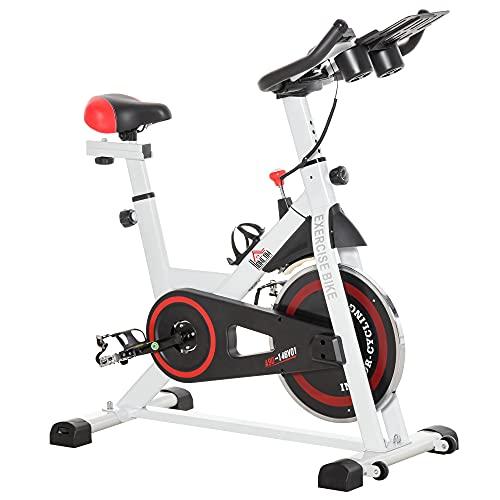HOMCOM Bicicleta Estática Bicicleta de Fitness Pantalla LCD Asiento Manillar...