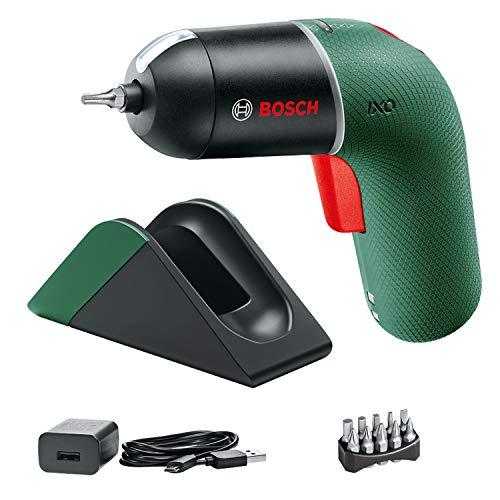 Bosch DIY Tools 06039C7101 Set con estación de carga Atornillador a batería IXO (6...