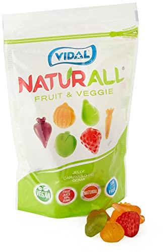 Vidal Golosinas Naturall Fruit & Veggie. Caramelo De Goma Vegano Sin Colorantes Y...