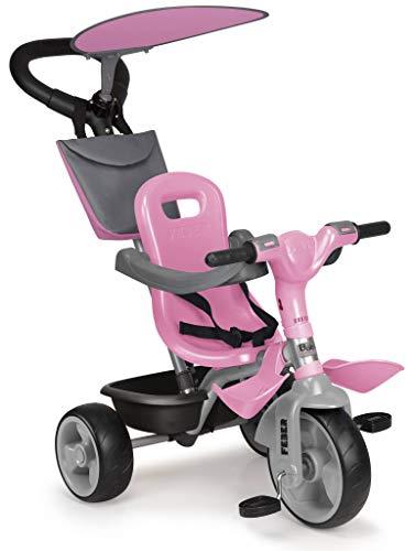 FEBER - Baby Plus Music Pink, Triciclo Rosa para niños y niñas de 9 Meses a 3 años...