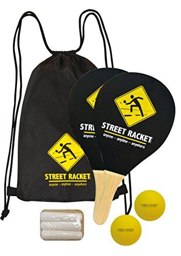 Juego de Raquetas Street Racket, 2 Raquetas de Madera, 2 Pelotas de Softball,...