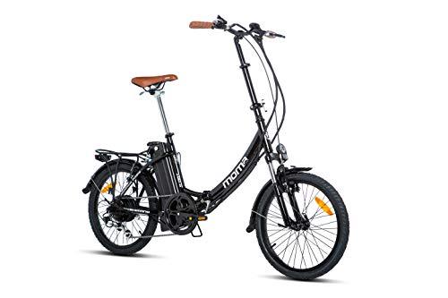 Moma Bikes Bicicleta Electrica Plegable Urbana EBIKE-20.2, Aluminio, SHIMANO 7V,...