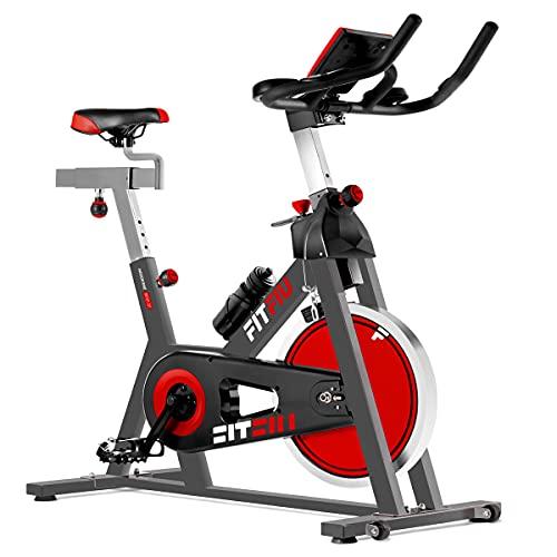 FITFIU BESP-22 - Bicicleta Indoor con disco inercia 24kg y resistencia regulable,...