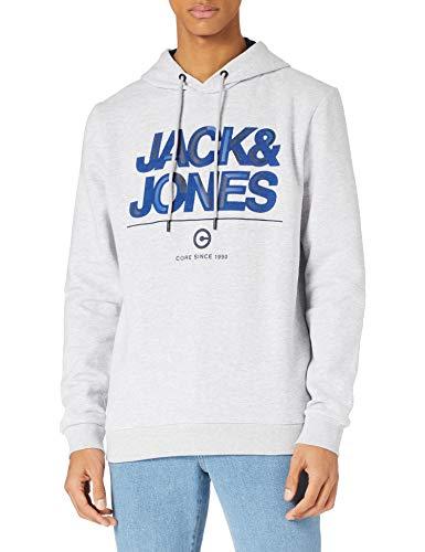 Jack & Jones JCOBERG Sweat Hood Sudadera con Capucha, Gris Claro, XL para Hombre