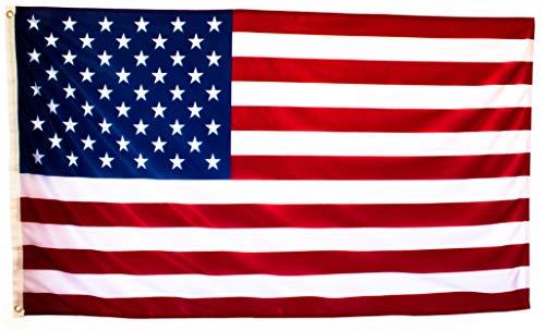 Bandera de Estados Unidos Grande de Tela Fuerte, Bandera Americana Exterior 150x90 cm...