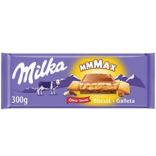 Milka ChocoSwing Chocolate con Leche Relleno de Galleta, 300g
