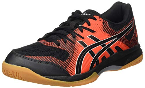 Asics Gel-Rocket 9, Sneaker Hombre, Black/Fiery Red, 42 EU
