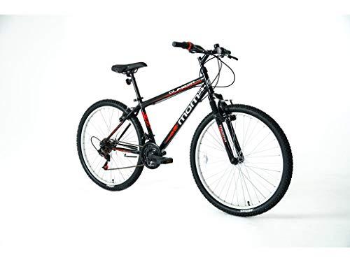Moma Bikes Bicicleta Montaña MTB26 CLIMBER, 21vel, frenos V-Brake, llantas de...