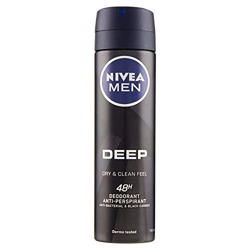 Nivea Men Deep Black Dry & Clean, Desodorante Antitranspirante, 150ml
